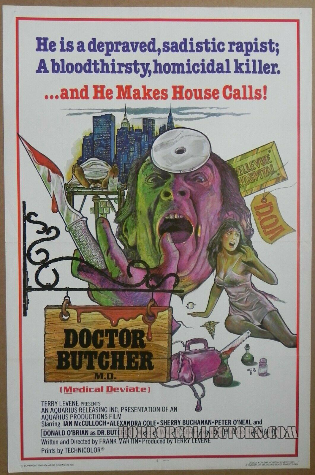 Doctor Butcher M.D. US One Sheet Poster