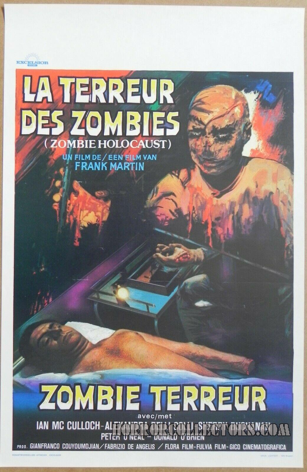 La Terruer Des Zombies Belgian Poster