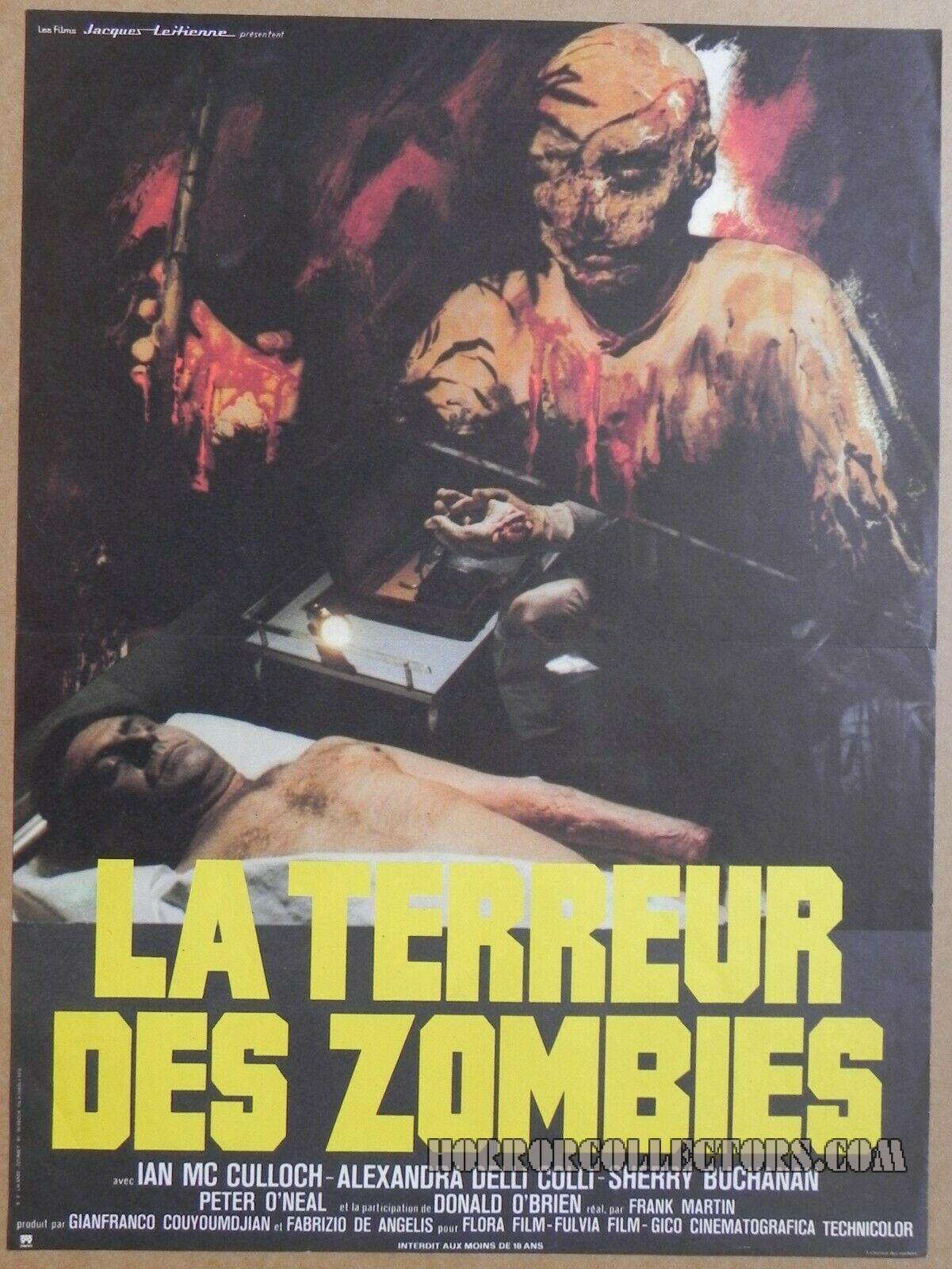 La Terreur Des Zombies French Petite Poster