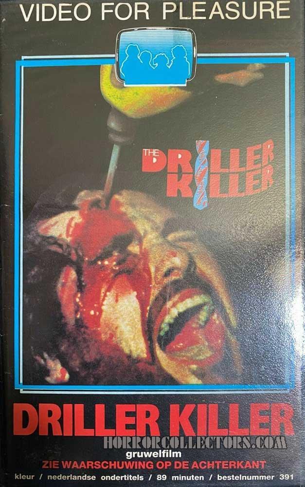 Driller Killer Video For Pleasure Dutch VHS