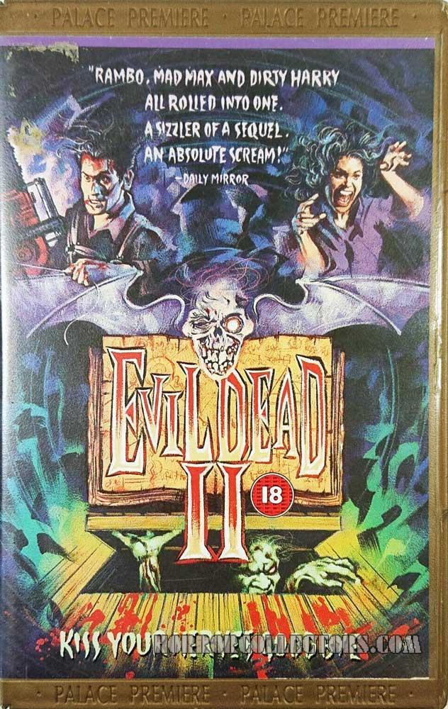 Evil Dead II UK Palace Premiere VHS Video
