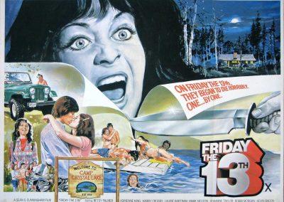 Friday the 13th British Quad Cinema Movie Poster