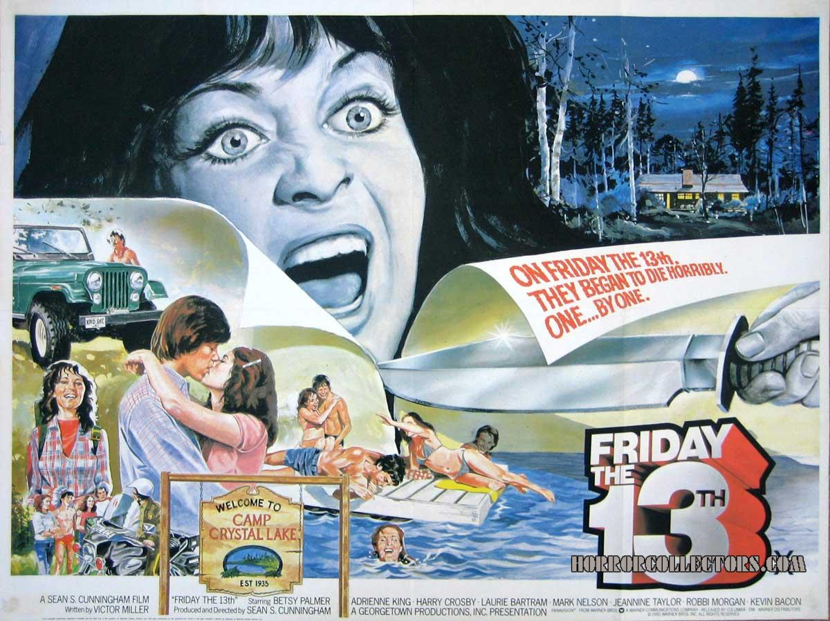 Friday the 13th British Quad poster Warner Bros