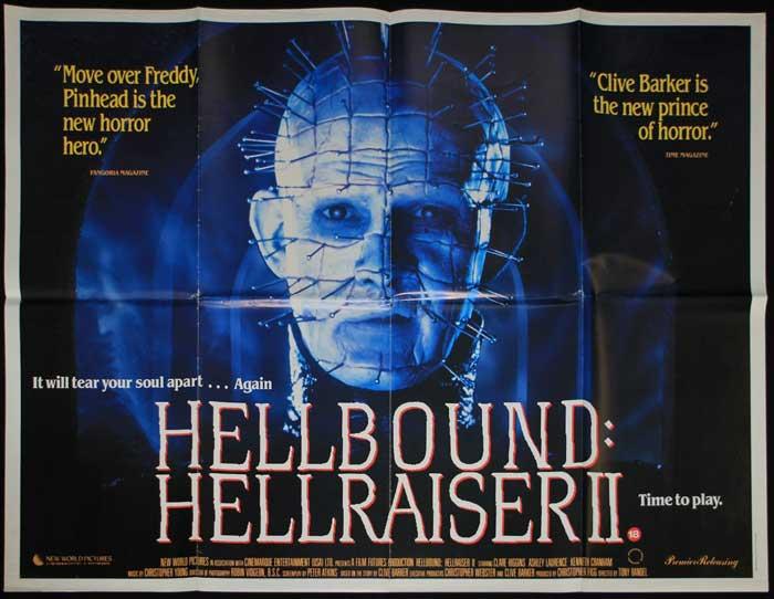 HELLBOUND HELLRAISER 2 BRITISH QUAD POSTER