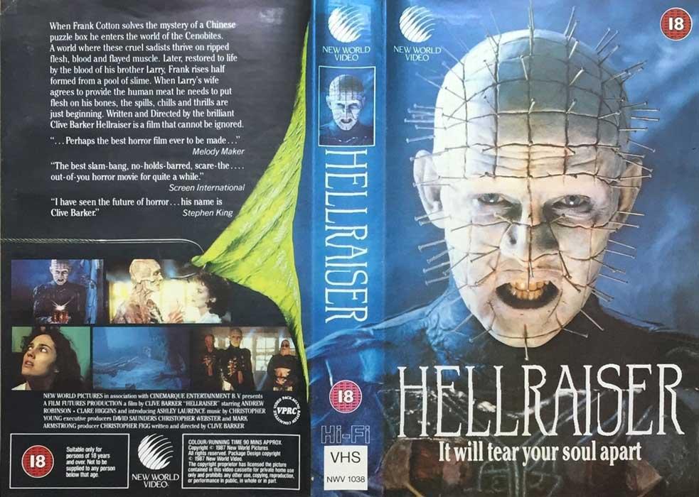 Hellraiser UK New World Video VHS cover