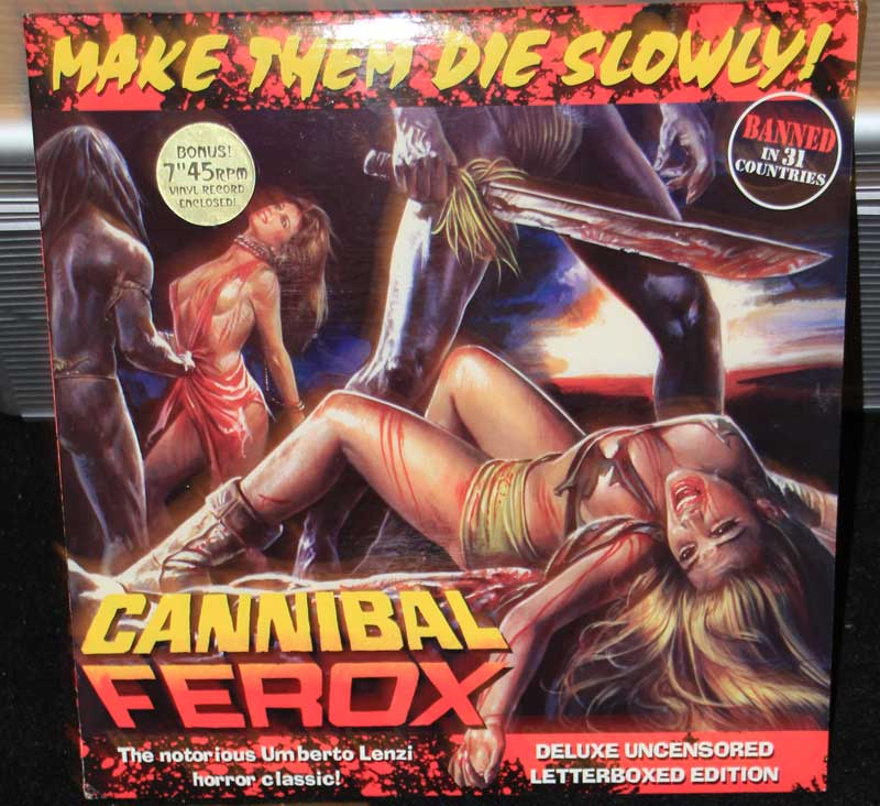 Cannibal Ferox AKA Make Them Die Slowly Grindhouse Ltd Ed Laserdisc