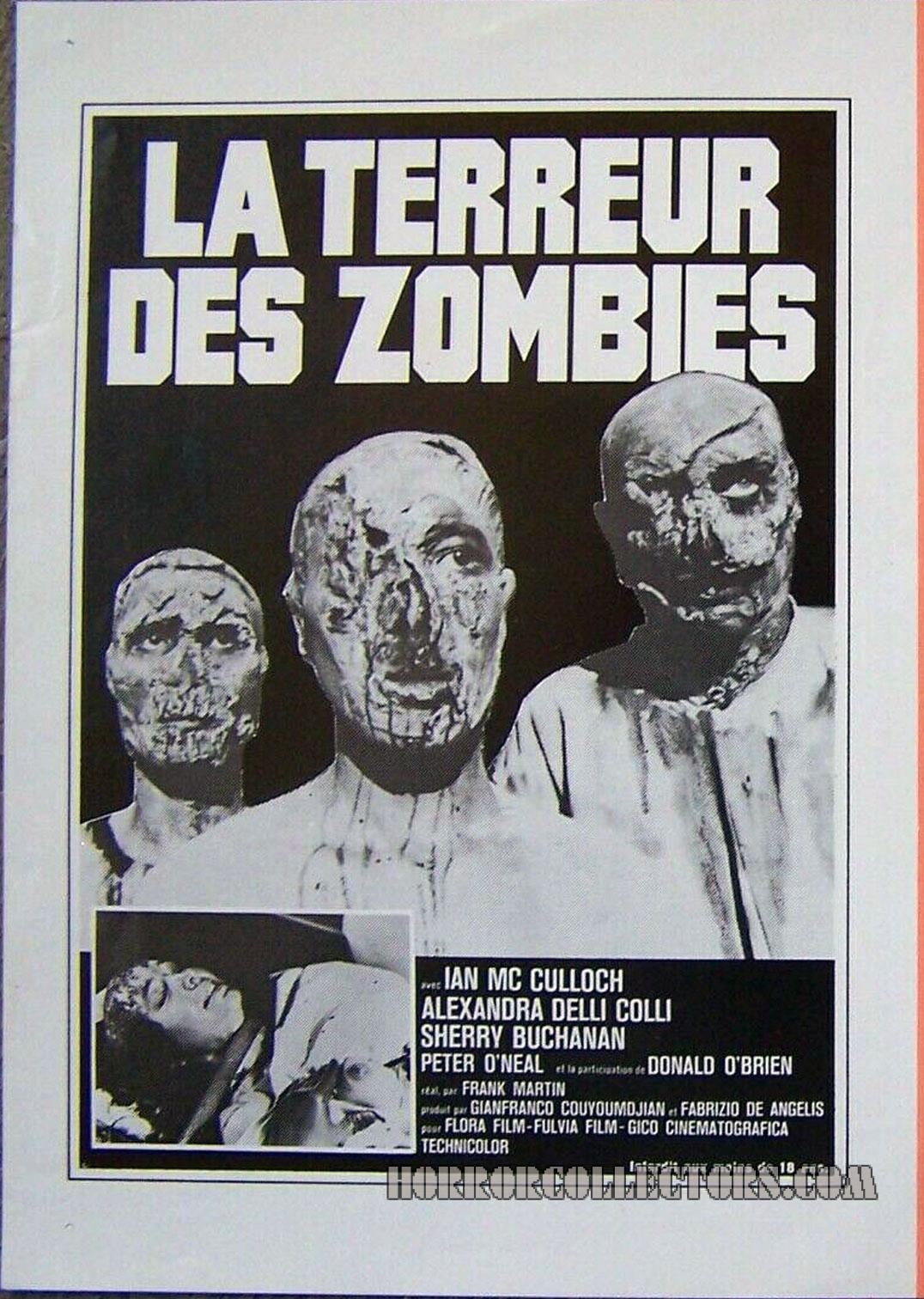 La Terreur Des Zombies French Press Sheet