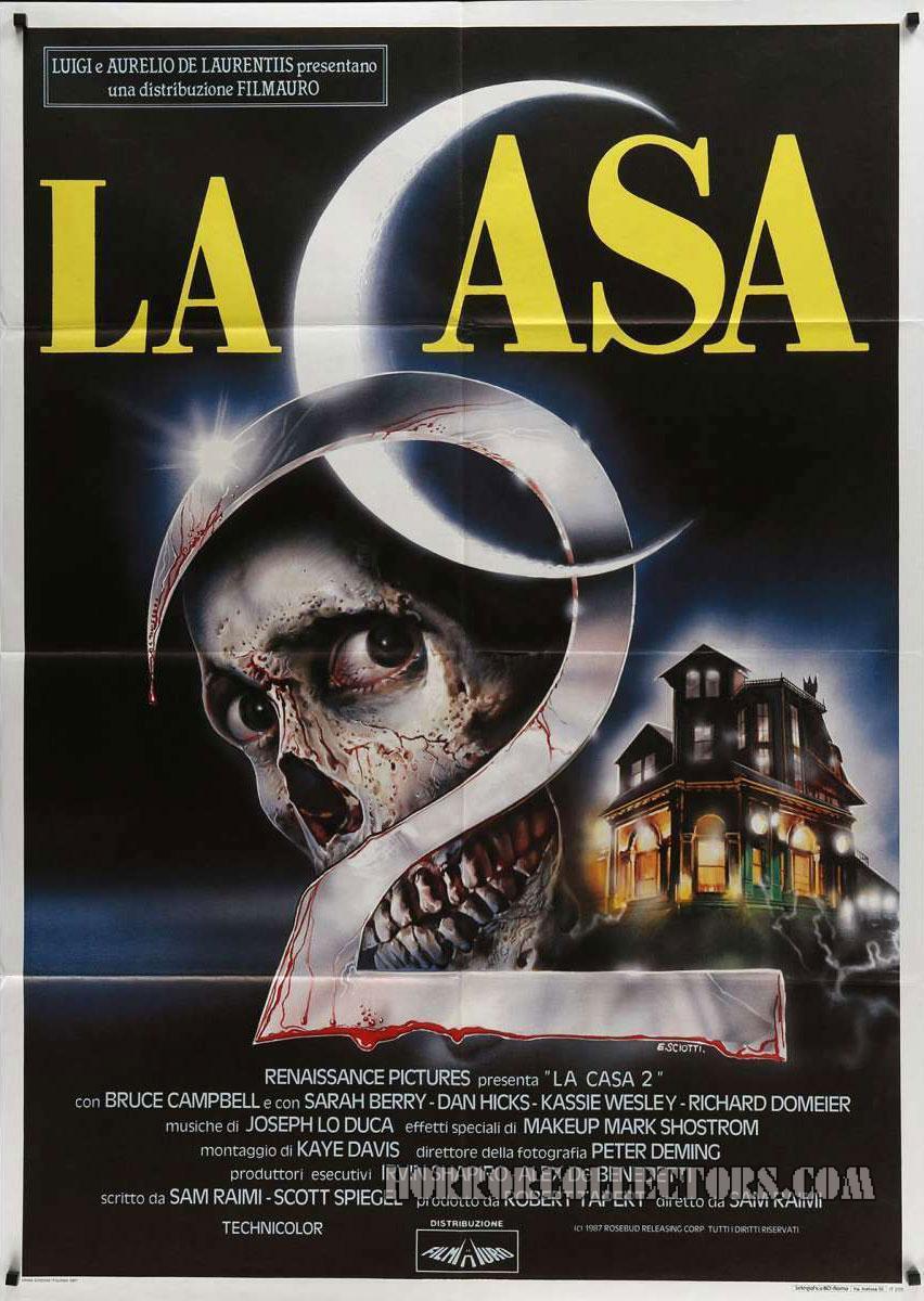 La casa 2 Evil Dead 2 Italian 2 Fogli Poster