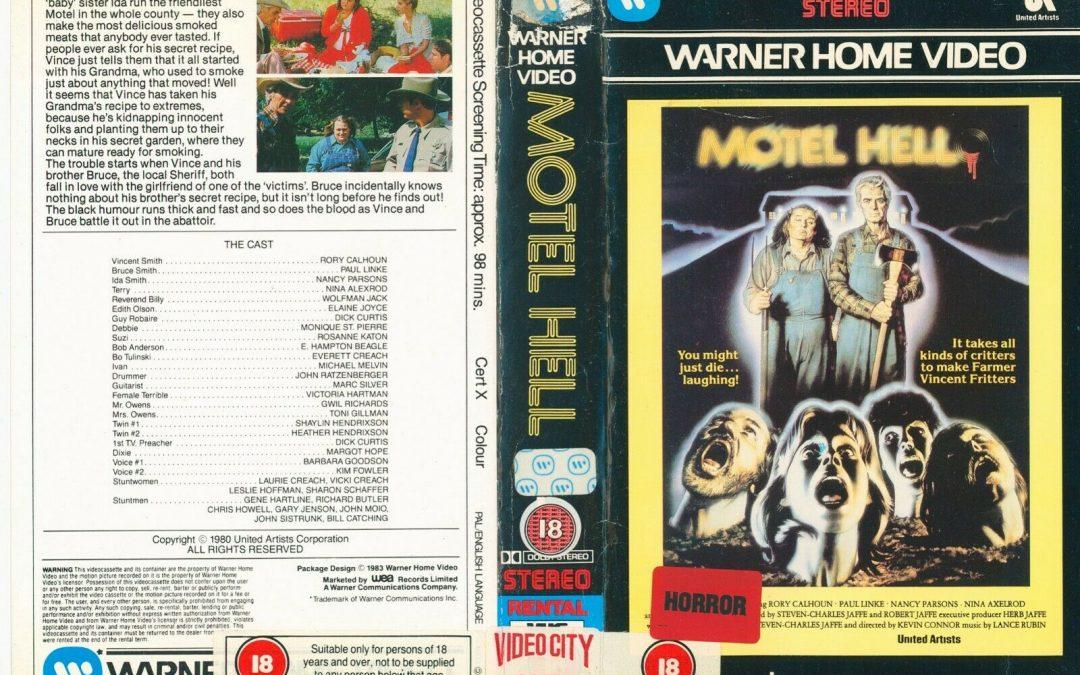 Motel Hell Warner UK Pre cert VHS