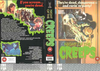 NIGHT OF THE CREEPS A side COVER VHS UK