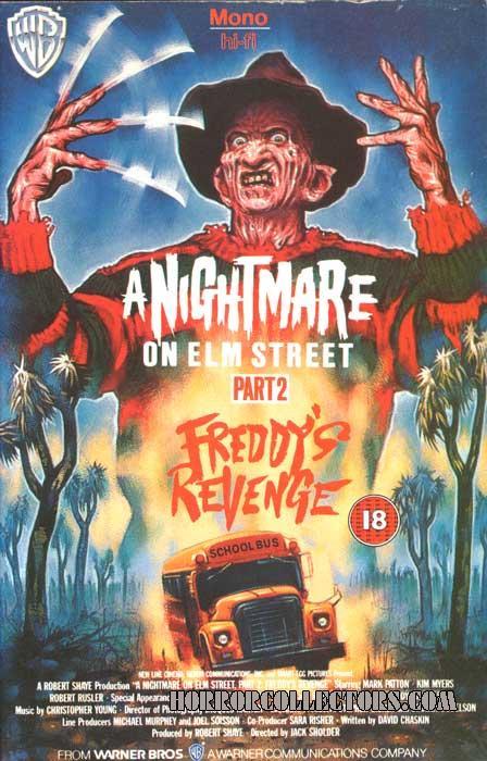 A Nightmare on Elm Street 2 UK Warner Rental VHS Video