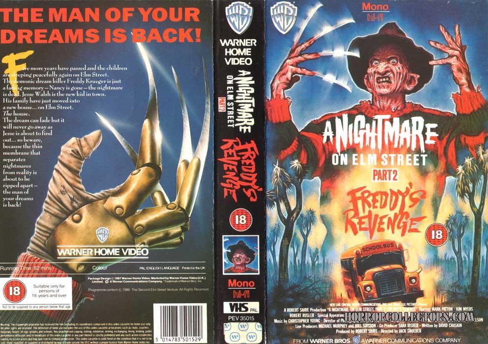A NIGHTMARE ON ELM STREET 2 UK WARNER VHS