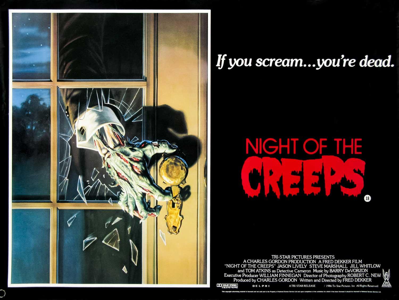 Night of the Creeps British Quad Poster