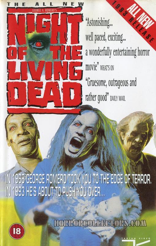 Night of the Living Dead 1990 Remake UK Tartan Video VHS