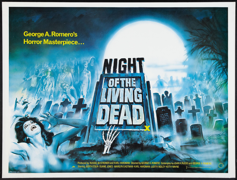 Night of the Living Dead Target International R 1980s British Quad poster