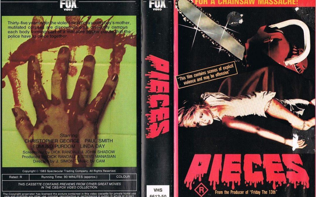 Pieces 1982 CBS FOX Australia VHS Sleeve