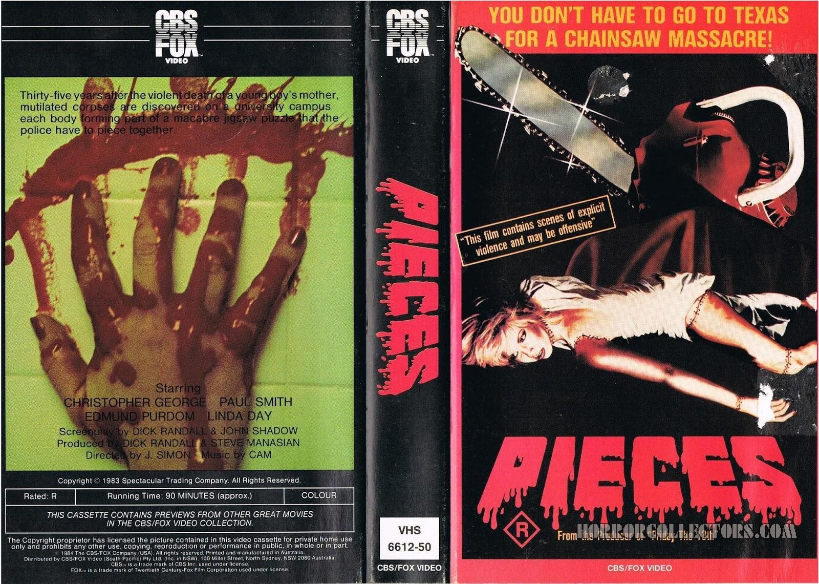 Pieces Australian CBS FOX VHS Video