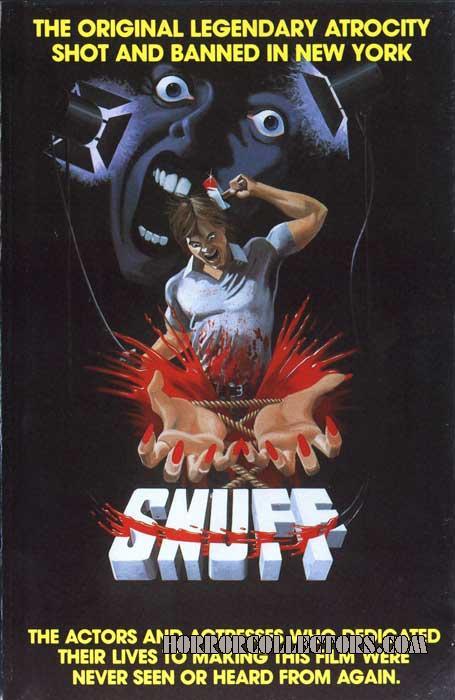 Snuff UK Pre Cert VHS Video Front