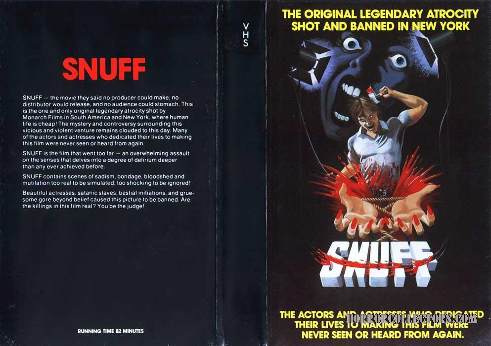 Snuff UK Pre Cert VHS Video Sleeve