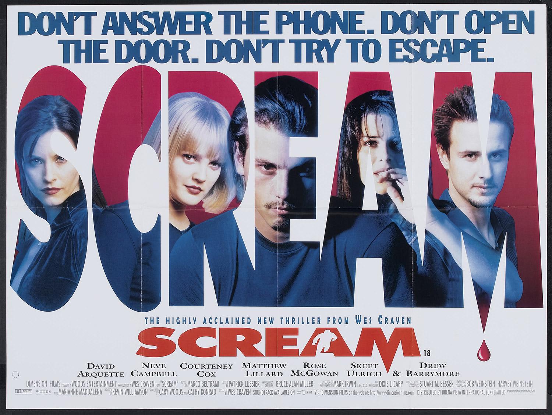 Scream British Quad Poster