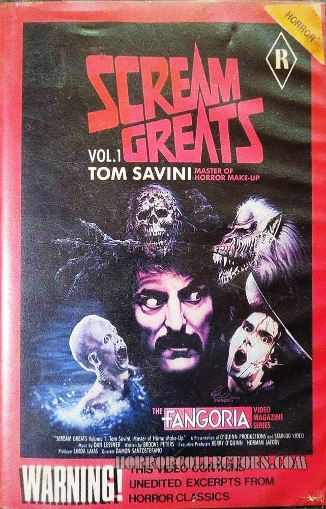 Scream Greats Vol. 1 Tom Savini Australian ShowCase Video VHS