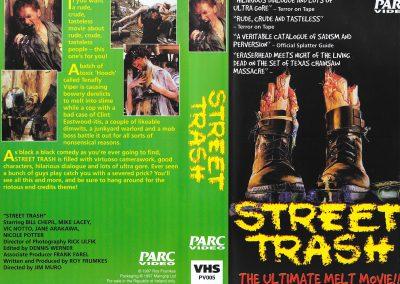 Street Trash Irish Parc Video VHS sleeve
