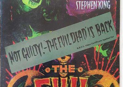 The Evil Dead UK NOT GUILTY Sleeve