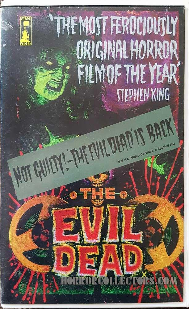 The Evil Dead UK Palace Pictures Re-release NOT GUILTY Sleeve