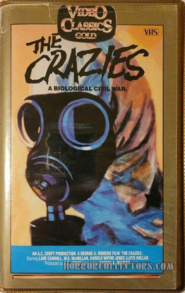 The Crazies Australian Video Classics Gold VHS Video
