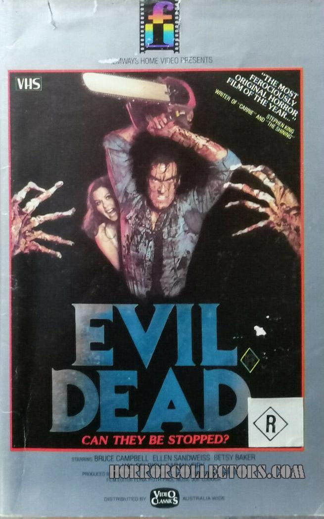 The Evil Dead Australian Filmways Video Classics VHS