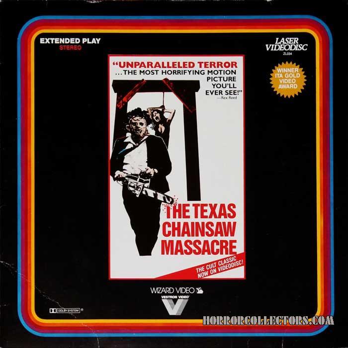 The Texas Chainsaw Massacre US 3M Vestron Video Laserdisc