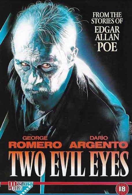 Two Evil Eyes UK Medusa Pictures Sample Promo Video Sleeve cover Romero Argento