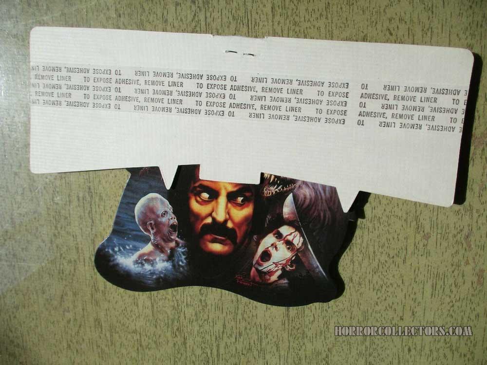Video Store Promotional Scream Greats 1986 Shelf Talker Tom Savini