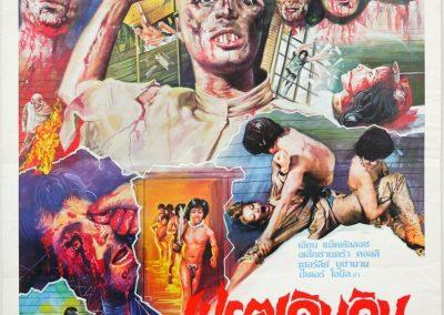 ZOMBIE HOLOCAUST Thai poster 30x20 inch Dr. Butcher M.D. video nasty quad rare