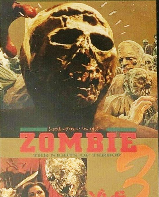Zombie 3 Nights of Terror Burial Ground japan TCC VHS Video Front