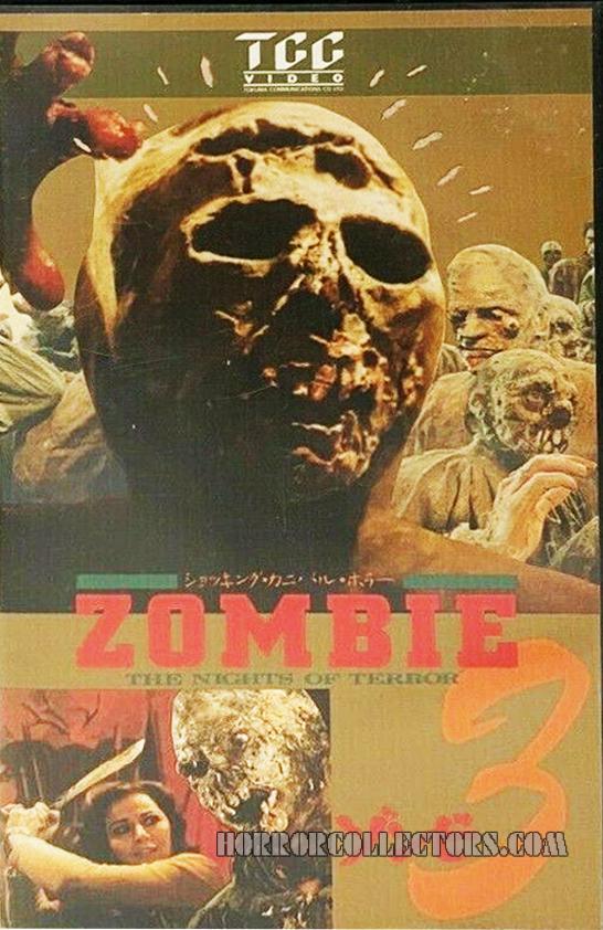 Zombie 3 Nights of Terror Japan TCC VHS Video