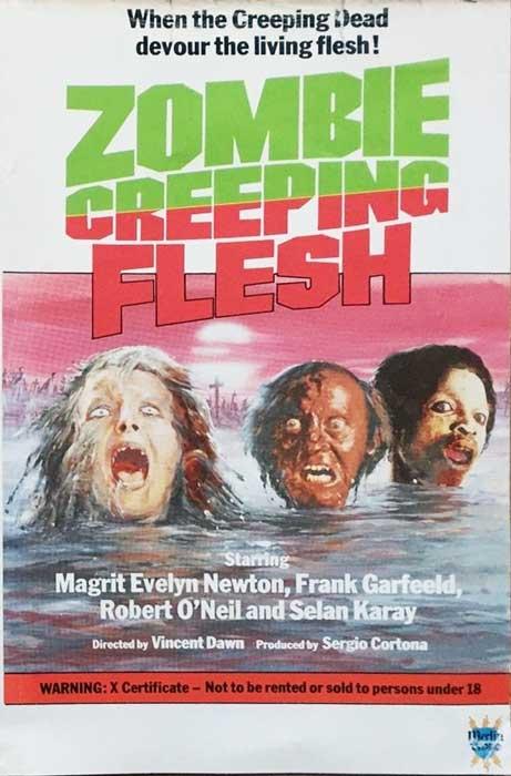Zombie Creeping Flesh UK Merlin Video Pre Cert Video