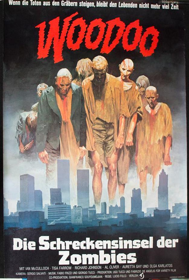 Woodoo Die Schreckensinsel Der Zombies German Poster