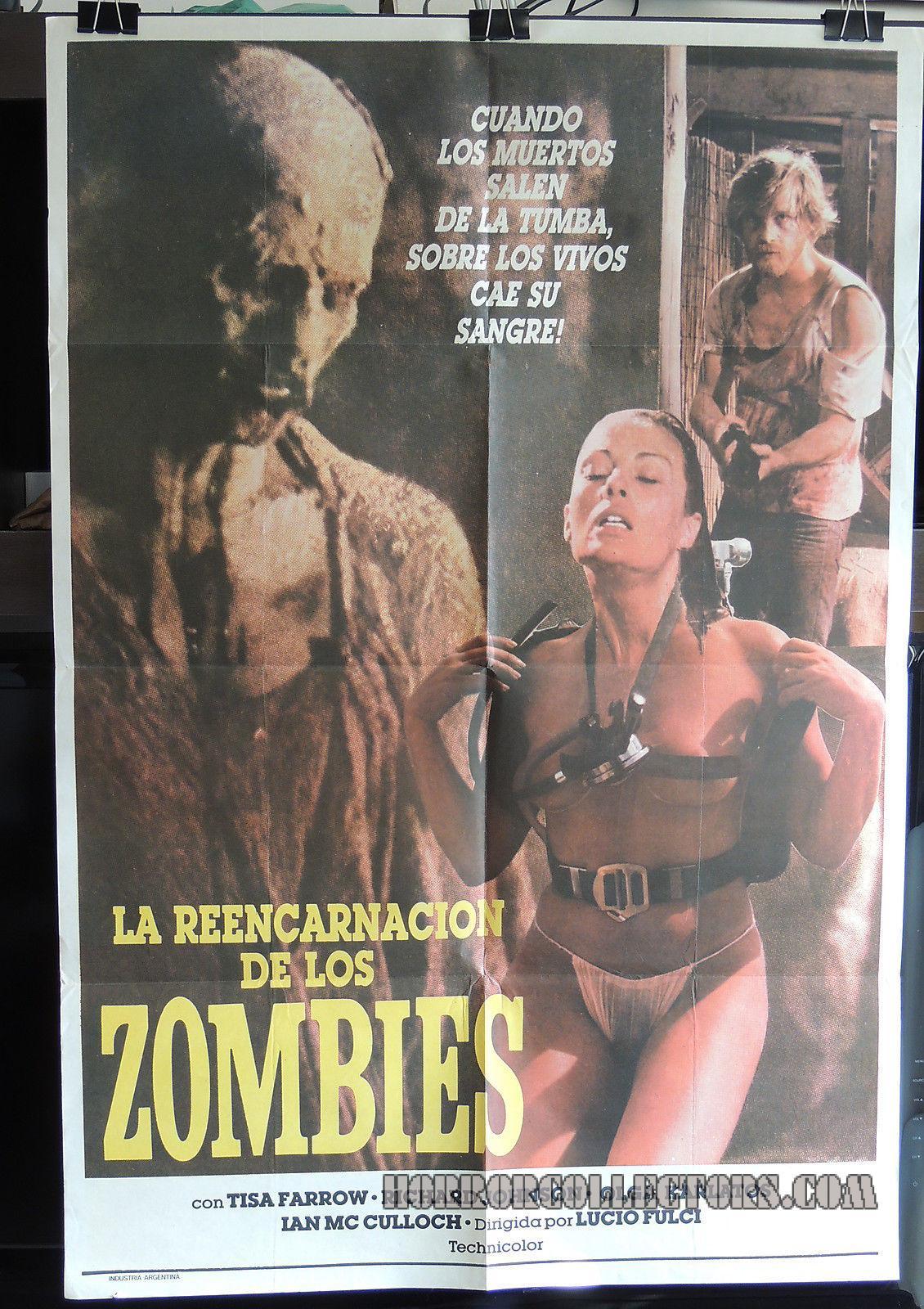 Zombie La Reencarnacion De Los Zombies Lucio Fulci Argentine Poster