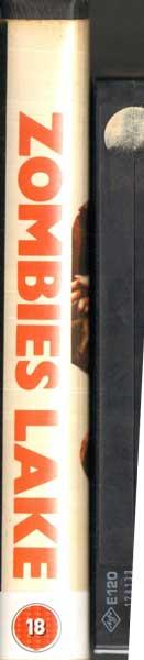 Zombies Lake UK Modern Films VHS Video spine