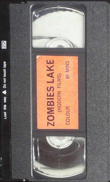 Zombies Lake UK Modern Films VHS Video tape