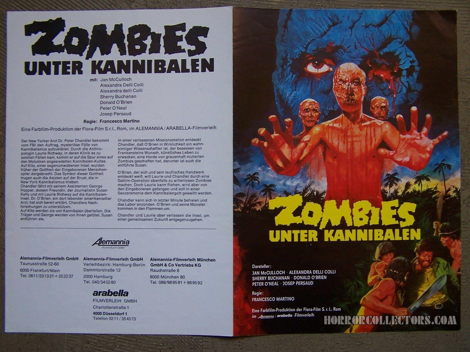 Zombies Unter Kannibalen German Press Book