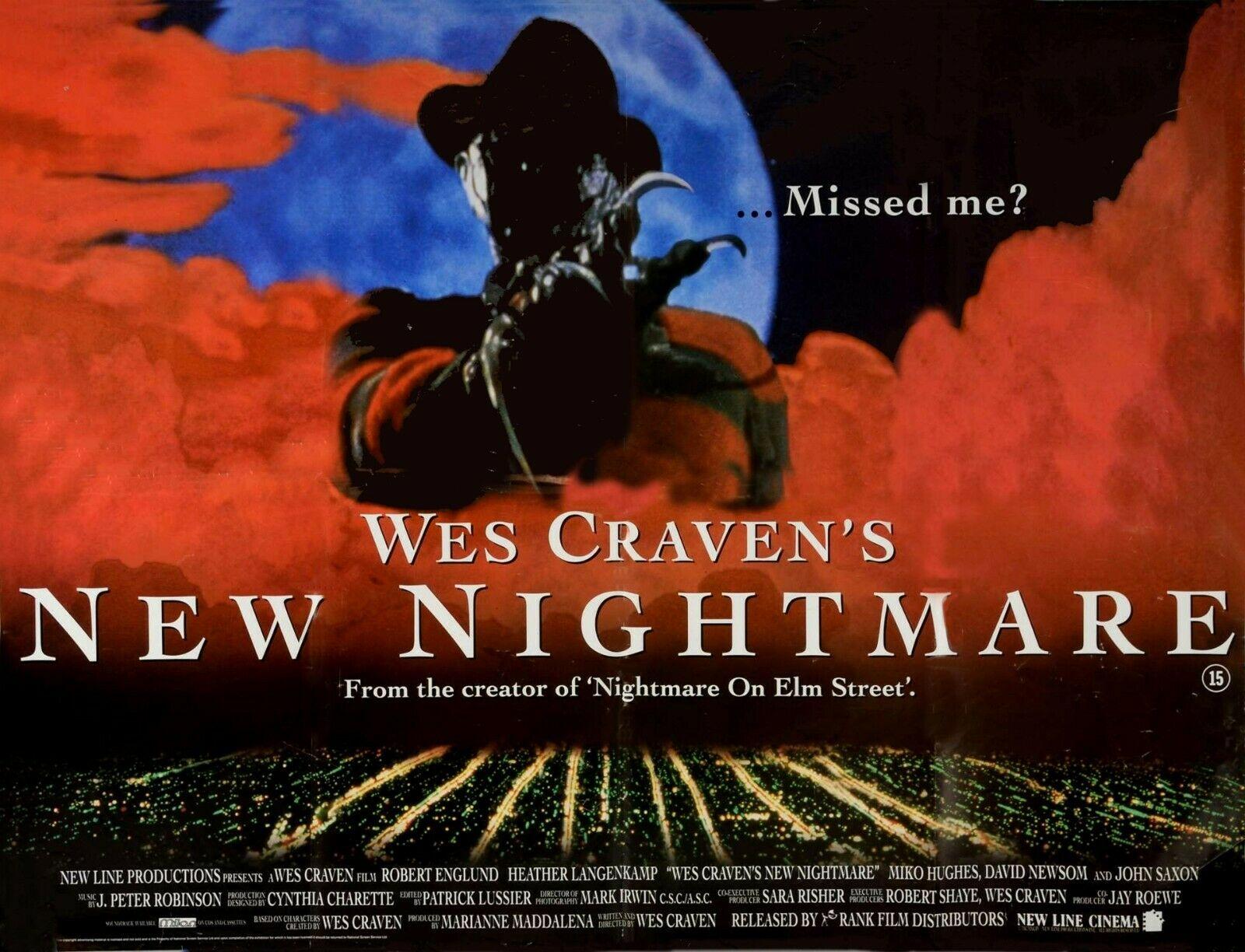 Wes Craven's New Nightmare British Quad Poster