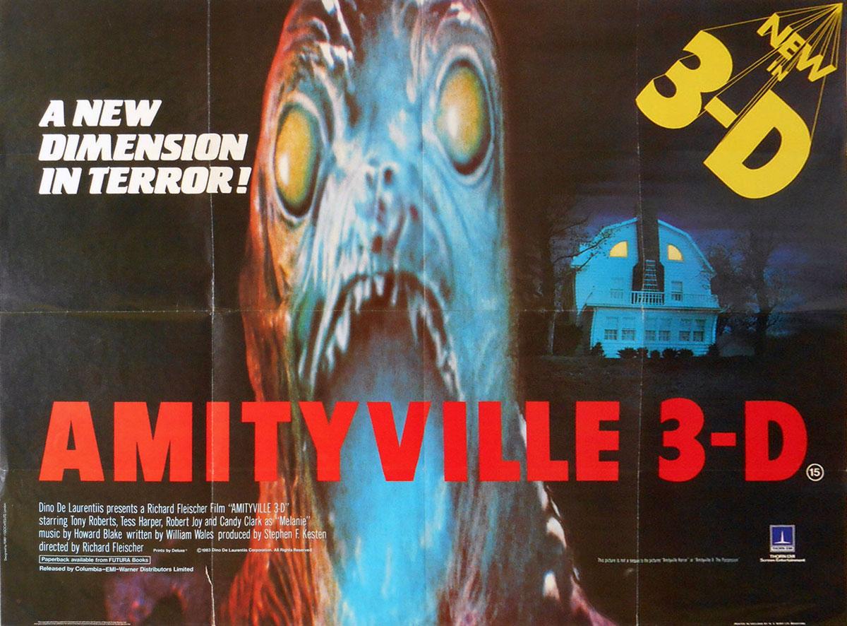 Amityville 3D British Quad Poster