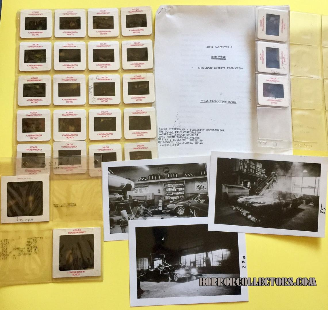 CHRISTINE 1983 Press Kit and publicity material John Carpenter Stephen King Columbia Pictures