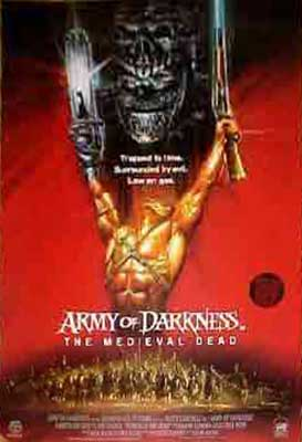 ARMY OF DARKNESS EVIL DEAD 3 BRITISH VIDEO RELEASE POSTER