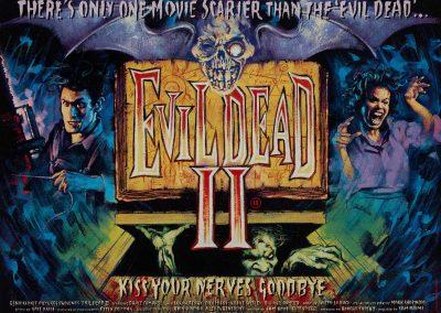 Evil Dead 2 II British Quad Poster