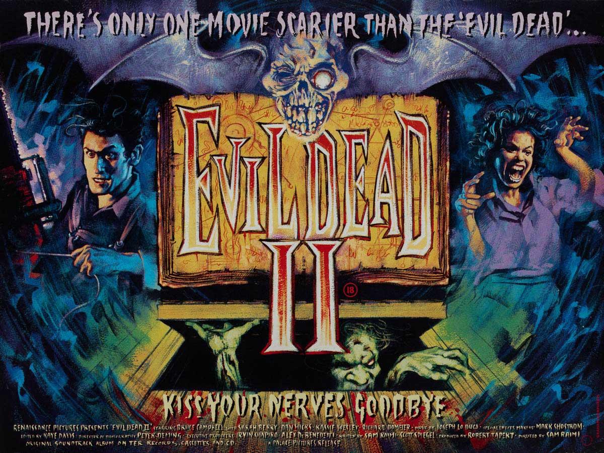 Evil Dead 2 British Quad Poster