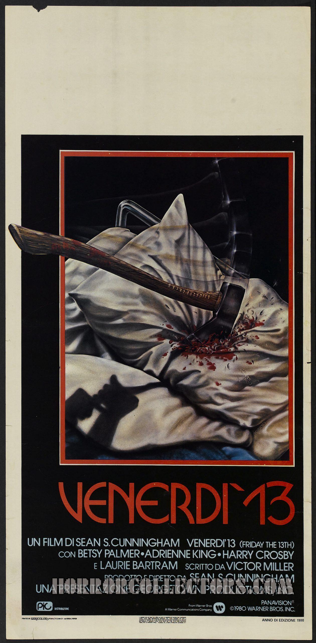 Friday the 13th Italian Locandina Poster Venerdi 13