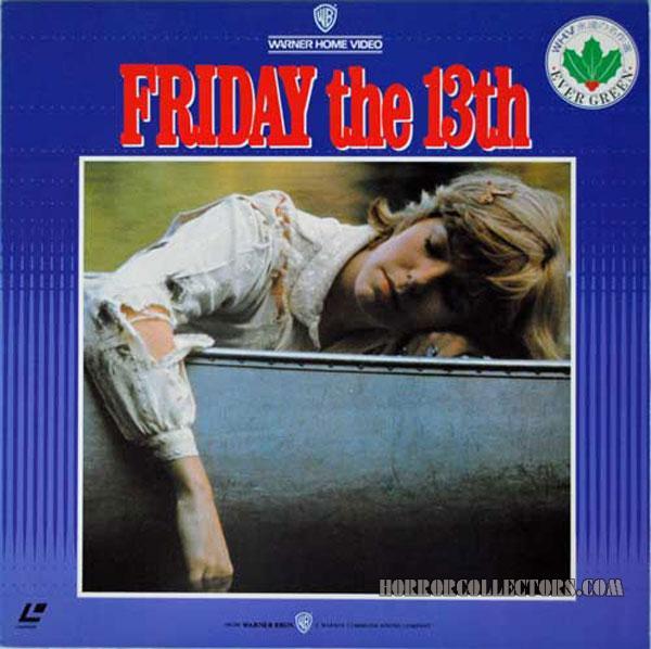Friday the 13th Japan Warner Home Video Laser disc